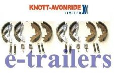 GENUINE KNOTT 203x40 TRAILER BRAKE SHOES - FITS IFOR WILLIAMS BRIAN JAMES x 2